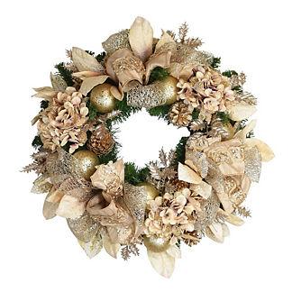 Champagne Hydrangea Wreath