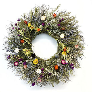 Lavender and Wildflower Wreath