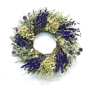 Dark Larkspur Hydrangea Wreath