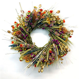 Bright Blooms Mixed Grass Wreath