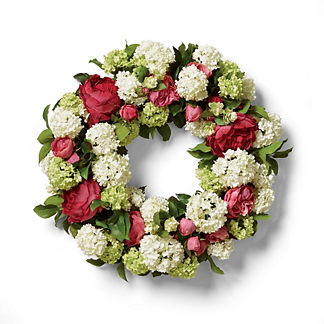 Valentina Snowball Rose Wreath
