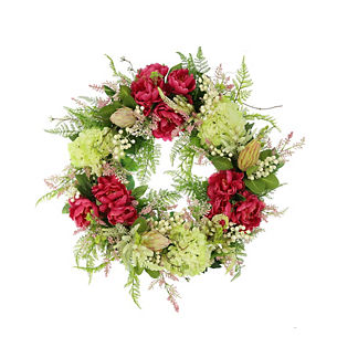 Luciana Mixed Floral and Heather Wreath