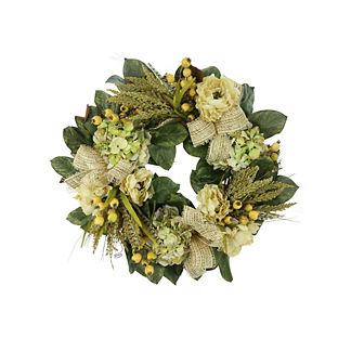 Santiago Floral and Ribbon Wreath
