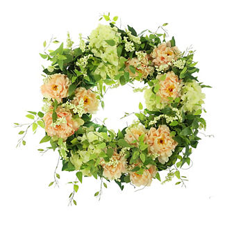 Esmarelda Hydrangea and Peony Wreath