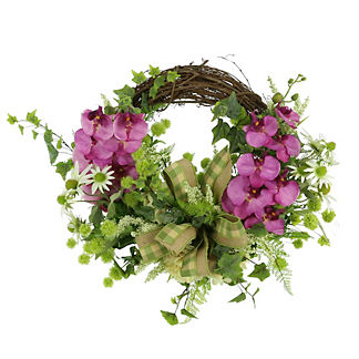 Mateo Orchid Grapevine Wreath