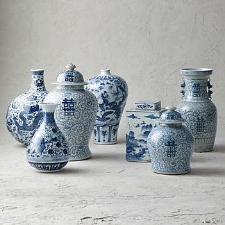 Blue Ming Vases