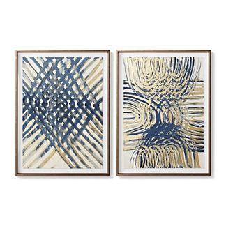 Indigo Basket Weave Giclee Prints