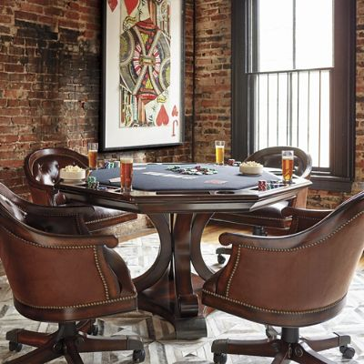 edison game table and chairs | frontgate