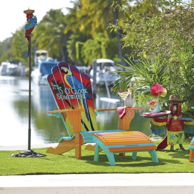 Nice Margaritaville 5 Ou0027Clock Somewhere Adirondack Chair And Ottoman | Frontgate