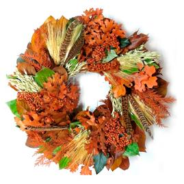 Feathered Elegance Wreath