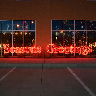 Estate-sized Seasons Greetings 19-ft. Lighted Sign
