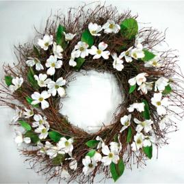 Silk Dogwood Wreath