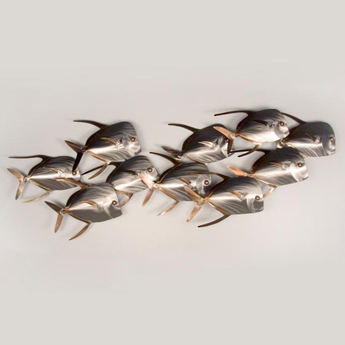 Lookdown fish wall art frontgate for Fish wall hanging