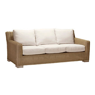 Rustic Sofa with Cushions by Summer Classics