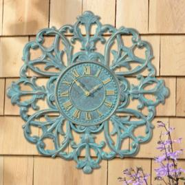 Medallion Outdoor Clock and Thermometer