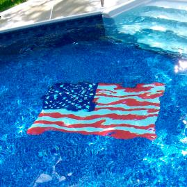 American Flag Pool Mat