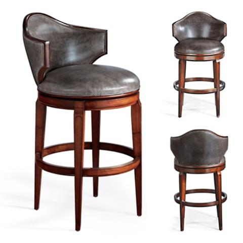 Nicholson Low Back Swivel Bar Stool