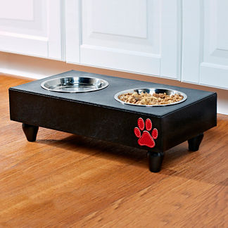 Houndstooth Pet Feeder