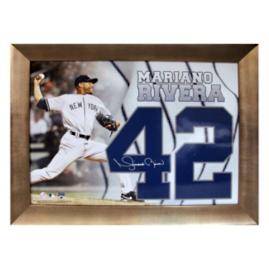 Framed Mariano Rivera 42 Autographed Photo Collage