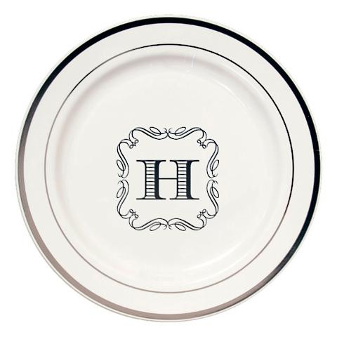 Premium Round Personalized Dinner Plates  sc 1 st  Frontgate : custom made dinner plates - Pezcame.Com