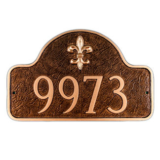 Fleur De Lis Arch Address Plaque