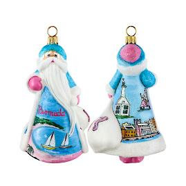 Glitterazzi International Bermuda Santa Ornament