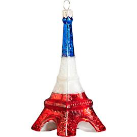Eiffel Tower French Flag Version Ornament