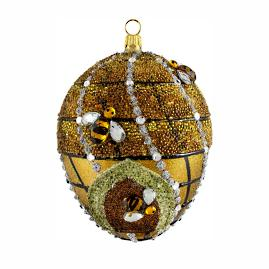 Glitterazzi Jeweled Beehive Egg Ornament