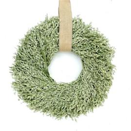 Avena Wreath with Burlap Hanger