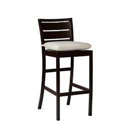 Charleston Bar Stool with Cushion by Summer Classics