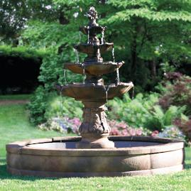 Classic Four-Tier Estate Fountain