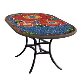 KNF Zinnia Oval Bistro Table