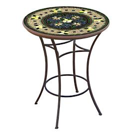 KNF Tuscan Lemons Round High Dining Table