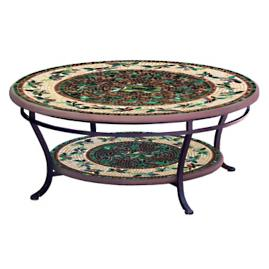 KNF Finch Round Double-Tiered Coffee Table
