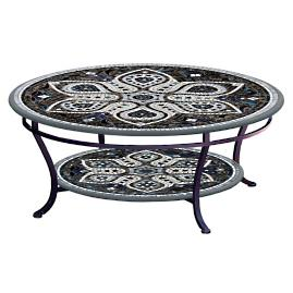 KNF Grigio Round Double-tiered Coffee Table