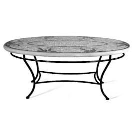 Ocean Waves Oval Coffee Table