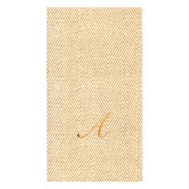 Caspari Jute Paper Linen Guest Towels, Set of