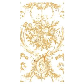 Caspari Romantic Toile Paper Linen Guest Towels, Set
