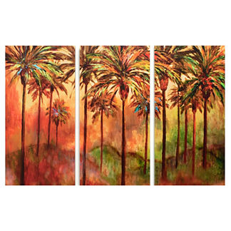 Colorwash Palm Triptych