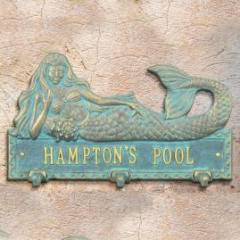 Personalized Mermaid Hook Plaque