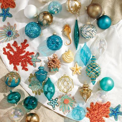 60 Pc Coastal Cool Ornament Collection Frontgate