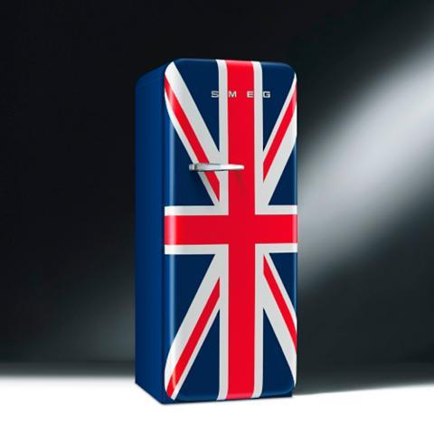 Smeg 50s Style Union Jack Refrigerator Frontgate