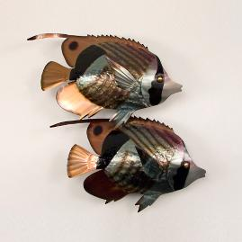 Striped Butterfly Fish Double