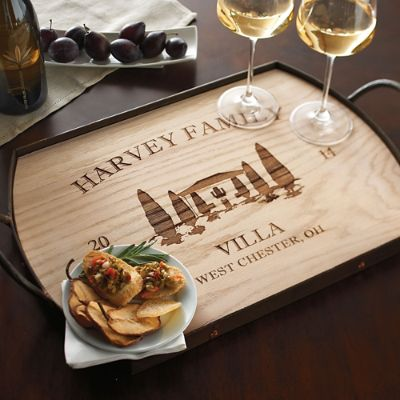 Personalized Villa Serving Tray Frontgate