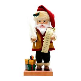 Christian Ulbricht Santa with List Nutcracker