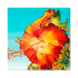 Orange Hibiscus Wall Art