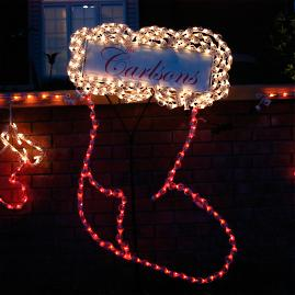 Lighted Outdoor Personalized Stocking