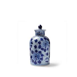Blue Ming Lidded Apothecary Jar