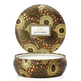 Voluspa Baltic Amber Three-Wick Tin Candle