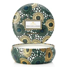 Voluspa French Cade and Lavender Three-Wick Tin Candle